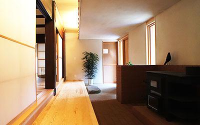 埜の家の広い玄関