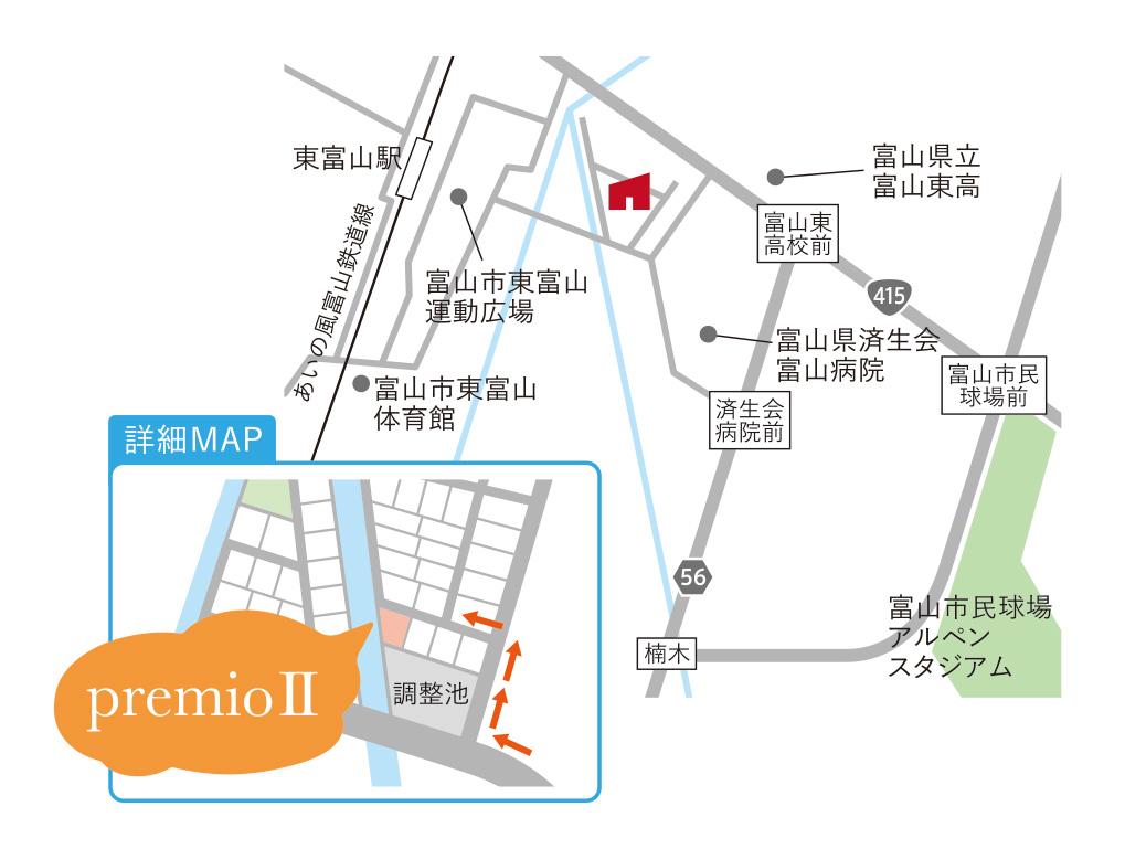 premioⅡ地図